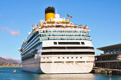 The port of Savona, Italy. Cruise ship in the port of Savona, Italy Royalty Free Stock Photography