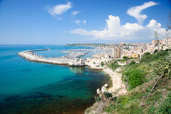 The Port of Sciacca, in province of Agrigento, Sicily. Stock Images