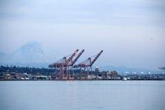 Harbor cargo shipping Seattle Stock Photos
