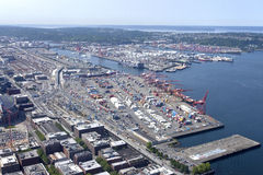 Port of Seattle Washington. The port of Seattle Washington and surrounding areas Stock Photography
