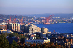 Port of Seattle Washington state. Stock Images