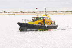 Port Security boat patrolling Outer Harbour in South Australia Royalty Free Stock Photos