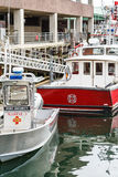 Port Security and Fire Boats Royalty Free Stock Photography