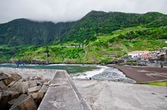Port in Seixal, Madeira, Portugal Royalty Free Stock Photography
