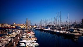 Port of Sete in France Stock Photo