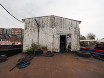 Port shed in Hamburg Royalty Free Stock Photography