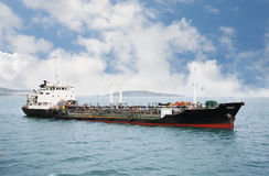 Port ship bunkering tanker Royalty Free Stock Image