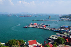 Port ship lsland Koh Sichang Stock Image