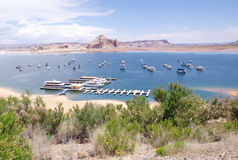 Port for ships and boats in Lake Powell Stock Photography
