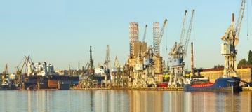 Port and shipyard Royalty Free Stock Image