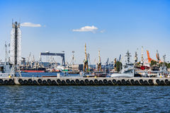 Port and shipyard in Gdynia, Poland Royalty Free Stock Image
