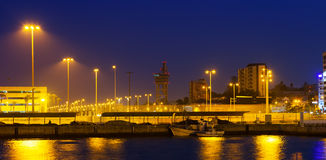 Port side of Algeciras  in  night Royalty Free Stock Photography
