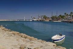 Port of Side, Turkey. Boats in port of Side, Turkey Stock Photo