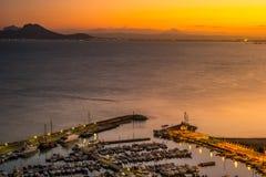 Port of Sidi Bou Said near Tunis, Tunisia Royalty Free Stock Photos