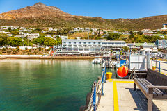 In the port of Simon`s Town. South Africa Royalty Free Stock Photo