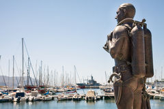In the port of Simon`s Town. South Africa Stock Photos