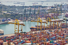 The port of Singapore Royalty Free Stock Photography
