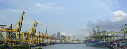 Port of Singapore. Which is used for Singapore's shipping Stock Photo