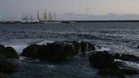 Port sinus, Portugal, marin- regatta av segelbåtar lager videofilmer