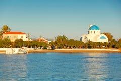 The port of Skala in Agistri, Greece. The port of Skala in Agistri island, Greece Stock Photos