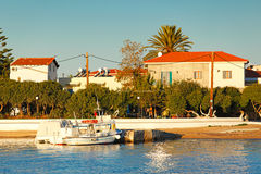 The port of Skala in Agistri, Greece Royalty Free Stock Photography