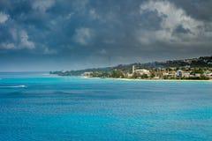 Port, skeppsdockor och pir i Bridgetown, Barbados Royaltyfri Bild