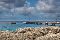 Port, skeppsdockor och pir i Bridgetown, Barbados Royaltyfria Bilder