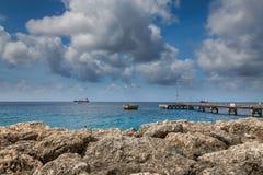 Port, skeppsdockor och pir i Bridgetown, Barbados Royaltyfri Fotografi