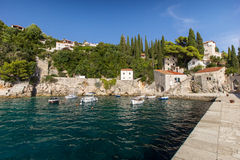 Port at a small Croatian town Trsteno Stock Images