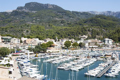 Port in small town, Majorca Royalty Free Stock Photography