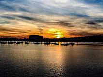 Port Solent sunset Stock Photos