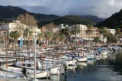 Port Soller na Majorca wyspie, Hiszpania obrazy stock