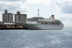 Port of Southampton UK Cruise ship on berth Stock Photos