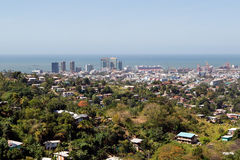 Port of spain at Trinidad royalty free stock images