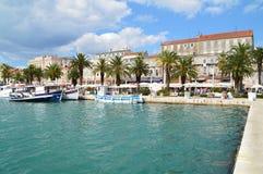 The port of Split. Split, Croatia - September 7, 2015: The harbor and The Old Town of Split Stock Photo