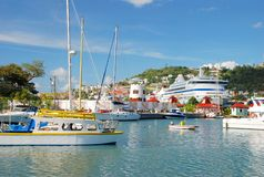 The port of St. George's, Grenada Royalty Free Stock Image