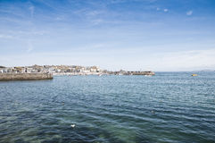 Port St. Ives, Cornwall, UK. Port Saint Ives in high tide, with blue sky Royalty Free Stock Photos
