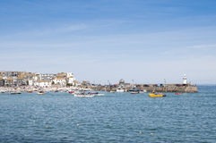 Port St. Ives, Cornwall, UK. Port Saint Ives in high tide, with blue sky Royalty Free Stock Images