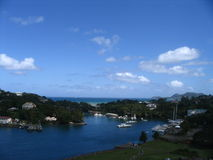 Port in St. Lucia. Caribbean stock photos