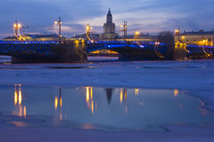 The Port Of St. Petersburg, Russia Stock Photography