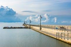 Port Stanley Pier, Ontario Kanada Arkivbild