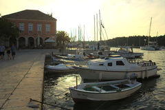 Port in Stari Grad Royalty Free Stock Image