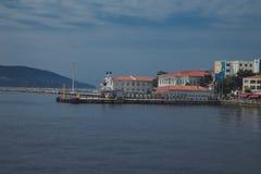Port of steamship Stock Photos