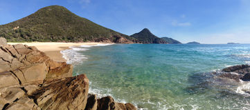Port Stephens för fjärd för haveristrandstim Royaltyfri Foto