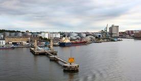 Port of Stockholm. Industrial port in Stockholm, Sweden royalty free stock image