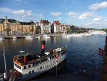 Port Stockholm, Suède, jour Images stock