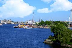 Port of Stockholm Sweden Royalty Free Stock Photos