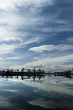 Port of Stockton Under Dramatic Sky Stock Photo