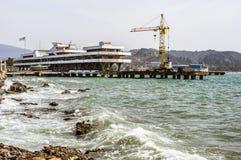 Port of Sukhum, Abkhazia Stock Photo