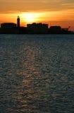 Port sunset Royalty Free Stock Image
